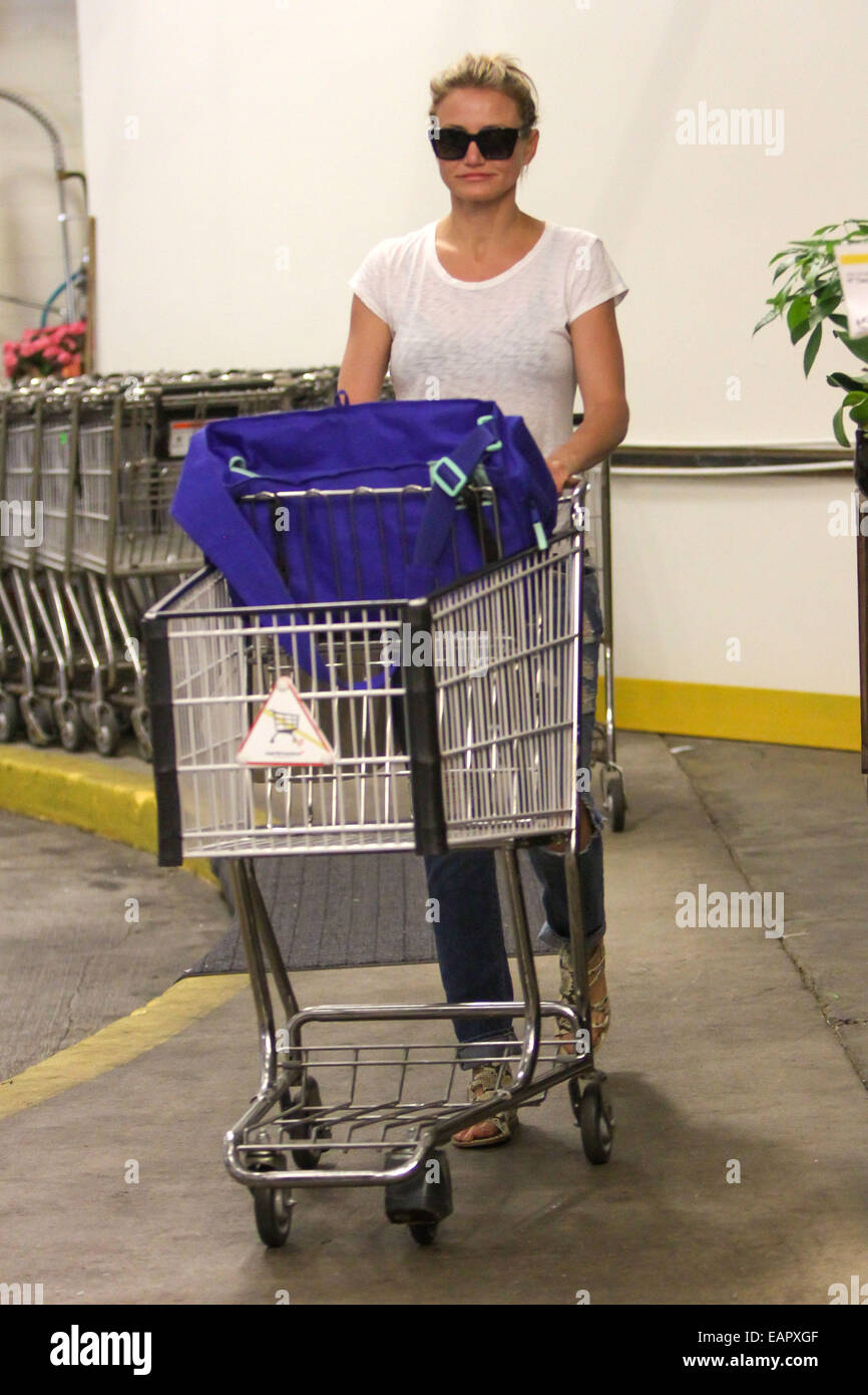 Cameron Diaz goes shopping at Whole Foods Market in Beverly