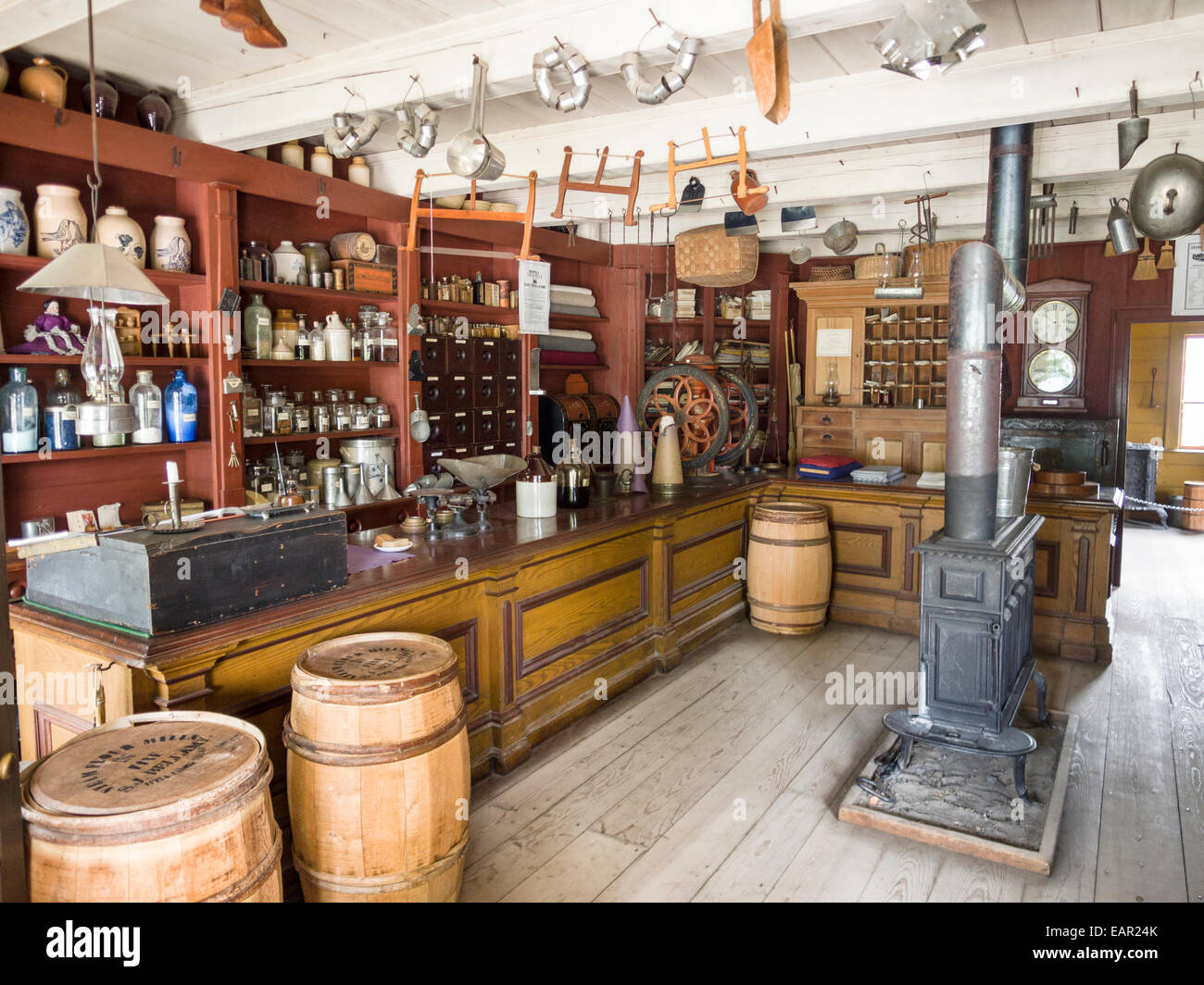 The Crysler General Store in the Village. A fully stocked general store, just full of curiosities. - Stock Image