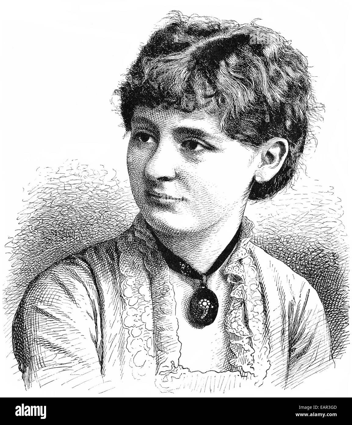 Teresina Theresa Teresa Tua, 1866 - 1956, an Italian violinist , Portrait von Teresina Theresa Teresa Tua, 1866 - Stock Image