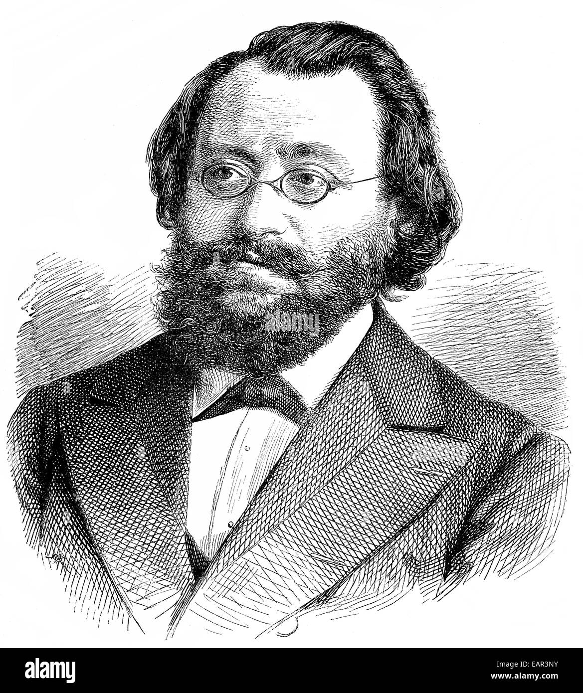 Max Christian Friedrich Bruch, 1838 - 1920, a German composer and conductor, Portrait von Max Christian Friedrich Stock Photo