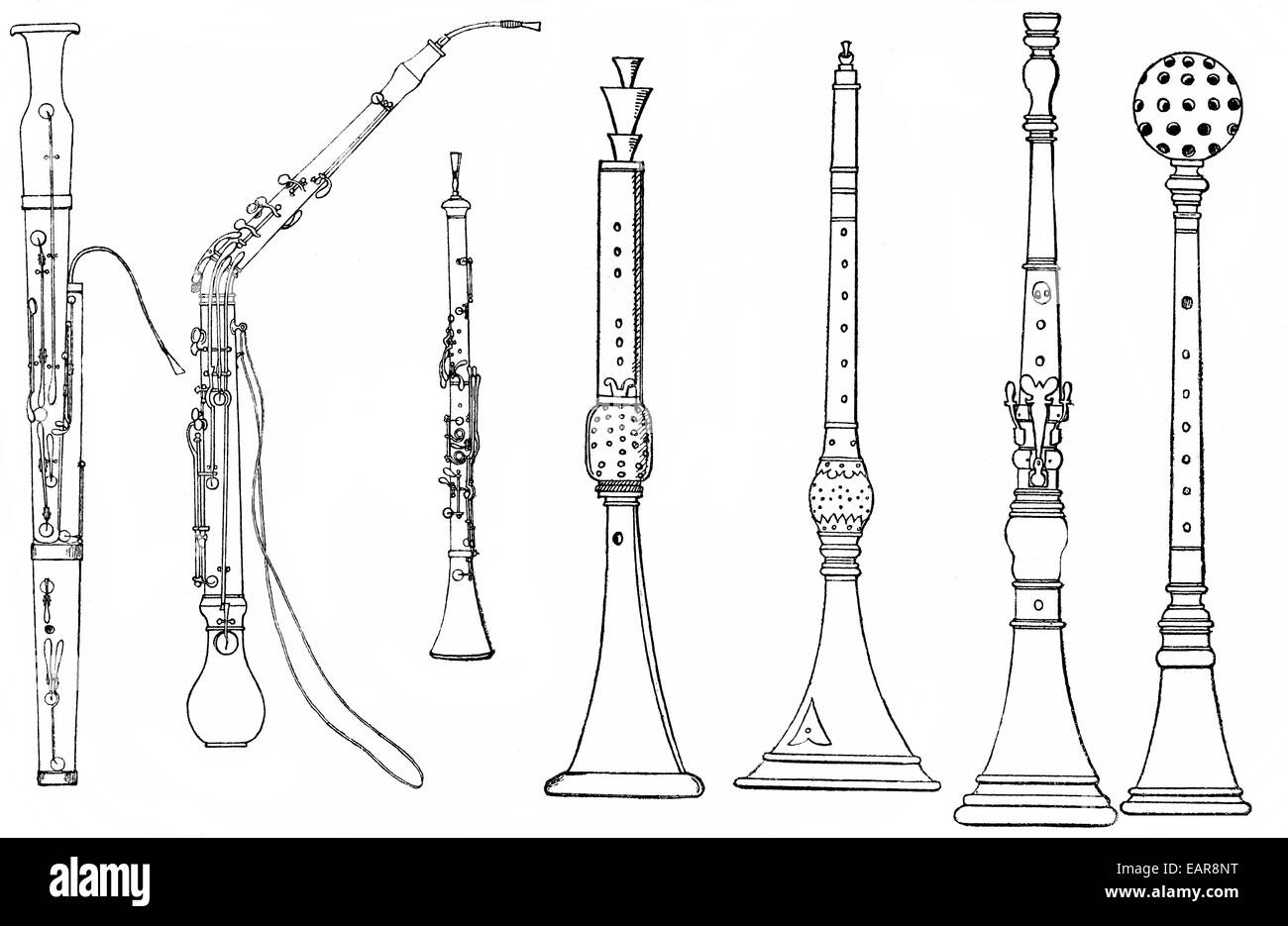 Shawm stock photos shawm stock images alamy various forms of ancient woodwind instruments shawm oboe bassoon english horn ccuart Choice Image