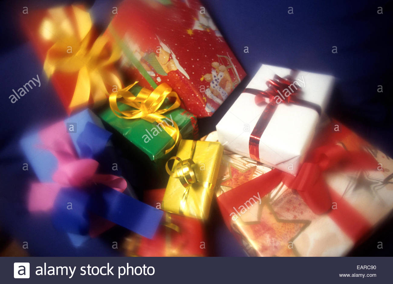 Christmas gifts, France. - Stock Image