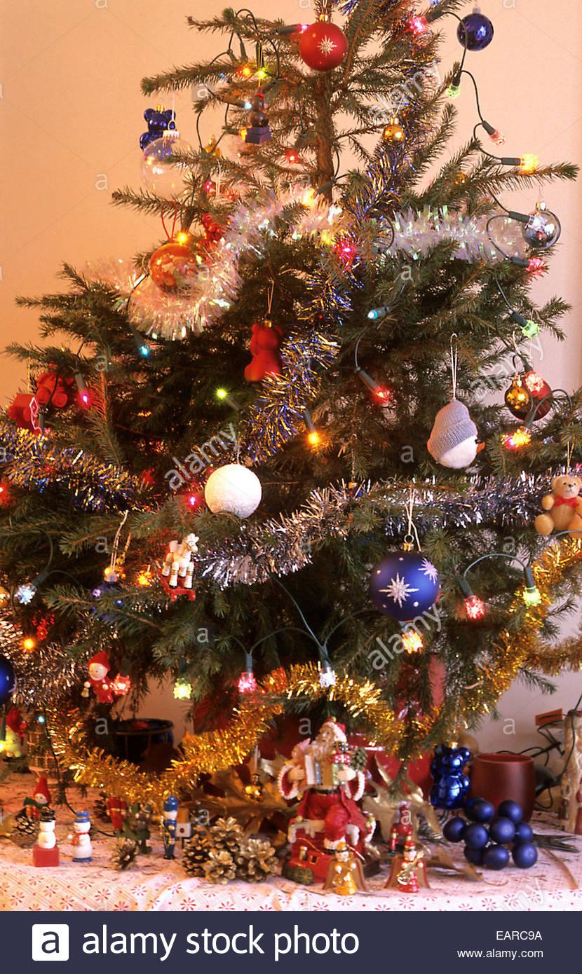 Christmas fir-tree, France. - Stock Image