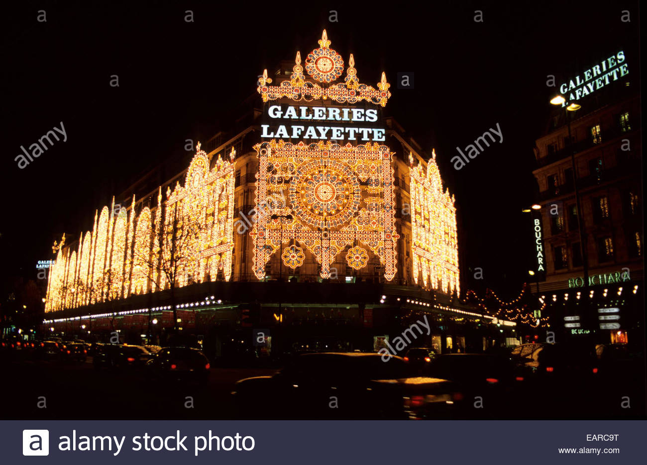 The Galeries Lafayette decorations during Christmas time, Paris, France. - Stock Image