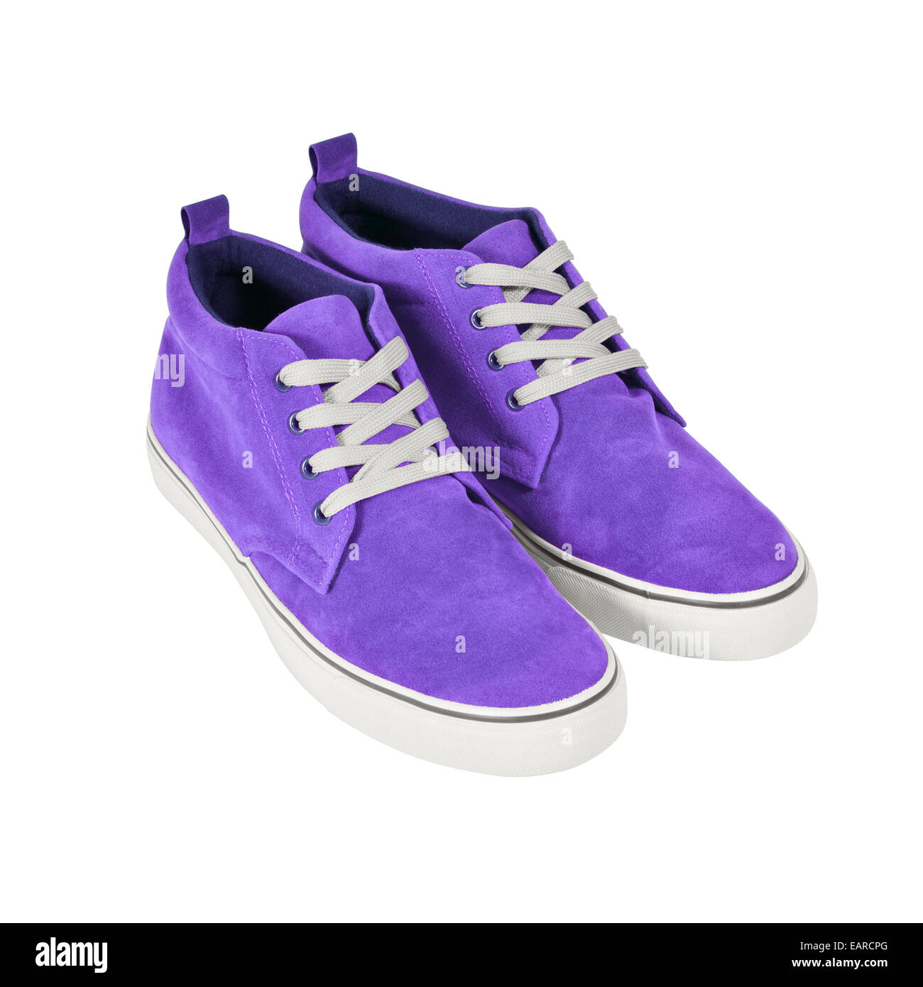A pair of casual style sneakers isolated on white background. Clipping path included. Stock Photo