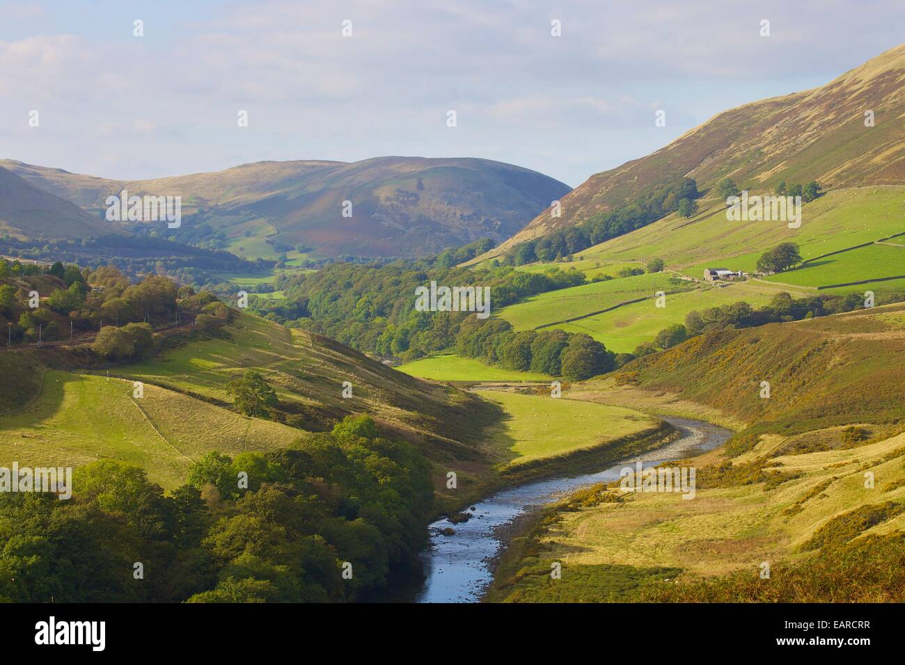 Lune Valley to become part of the Yorkshire dales and Lake District extended National Parks from August 2016. Cumbria, - Stock Image