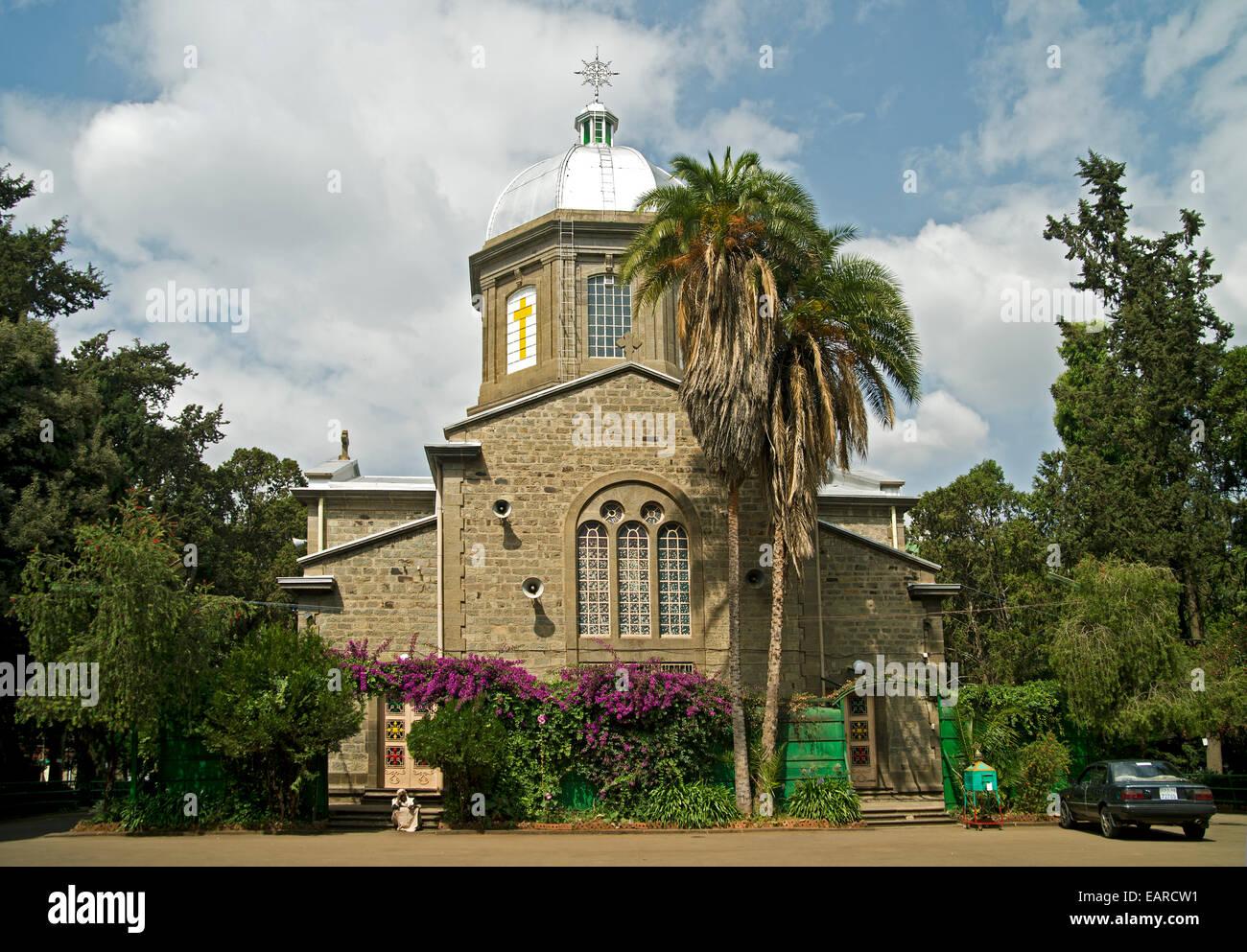 Sedetegnaw Medanialem Church, Addis Ababa, Ethiopia - Stock Image