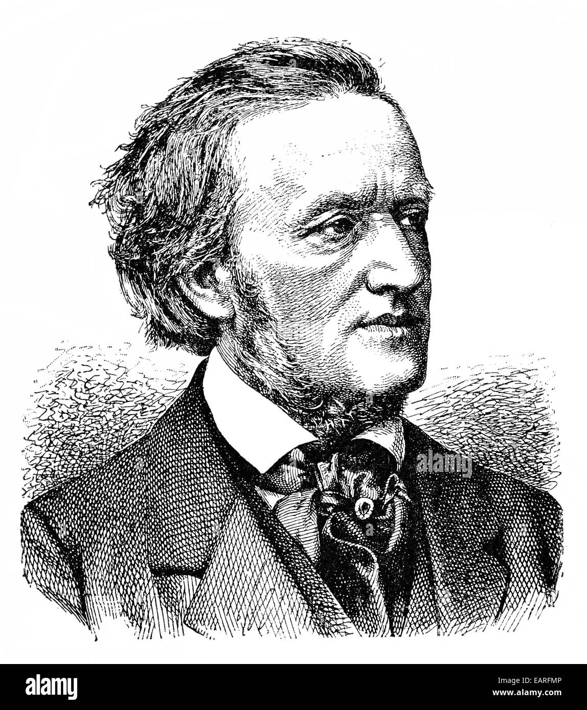 Wilhelm Richard Wagner 1813 - 1883, a German composer, playwright, philosopher, poet, writer, theater director and Stock Photo
