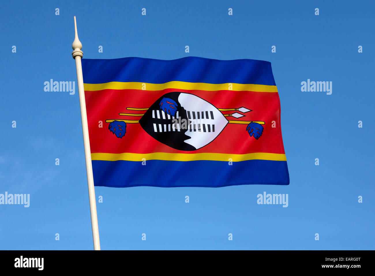 The state and war flag of Swaziland - Stock Image