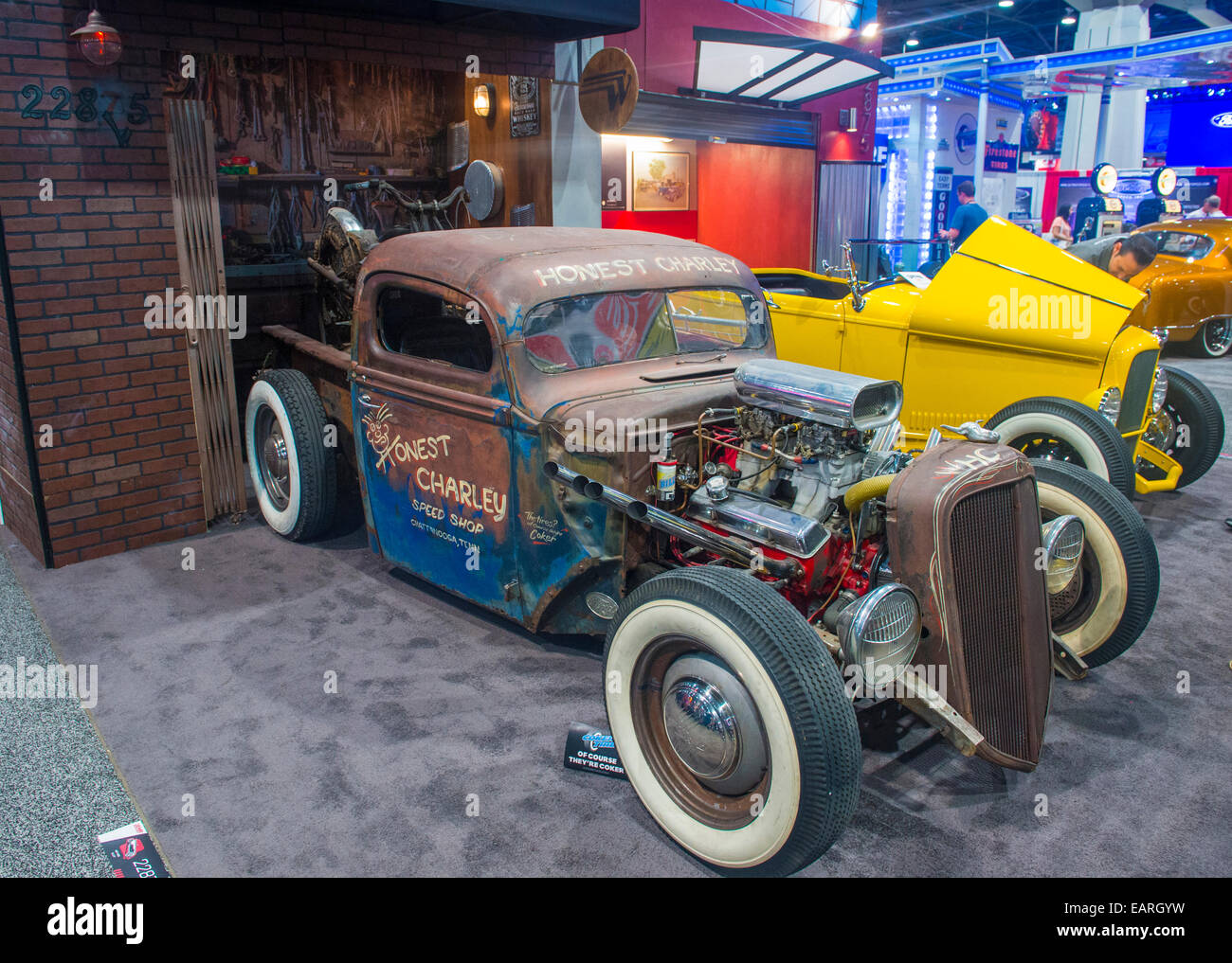 Old classic car at the SEMA Show in Las Vegas Stock Photo: 75506253 ...