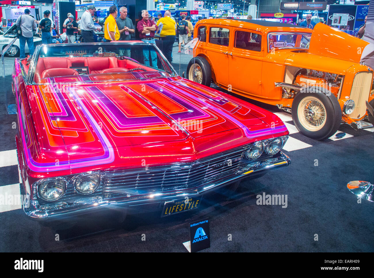 Old classic car at the SEMA Show in Las Vegas Stock Photo: 75506265 ...