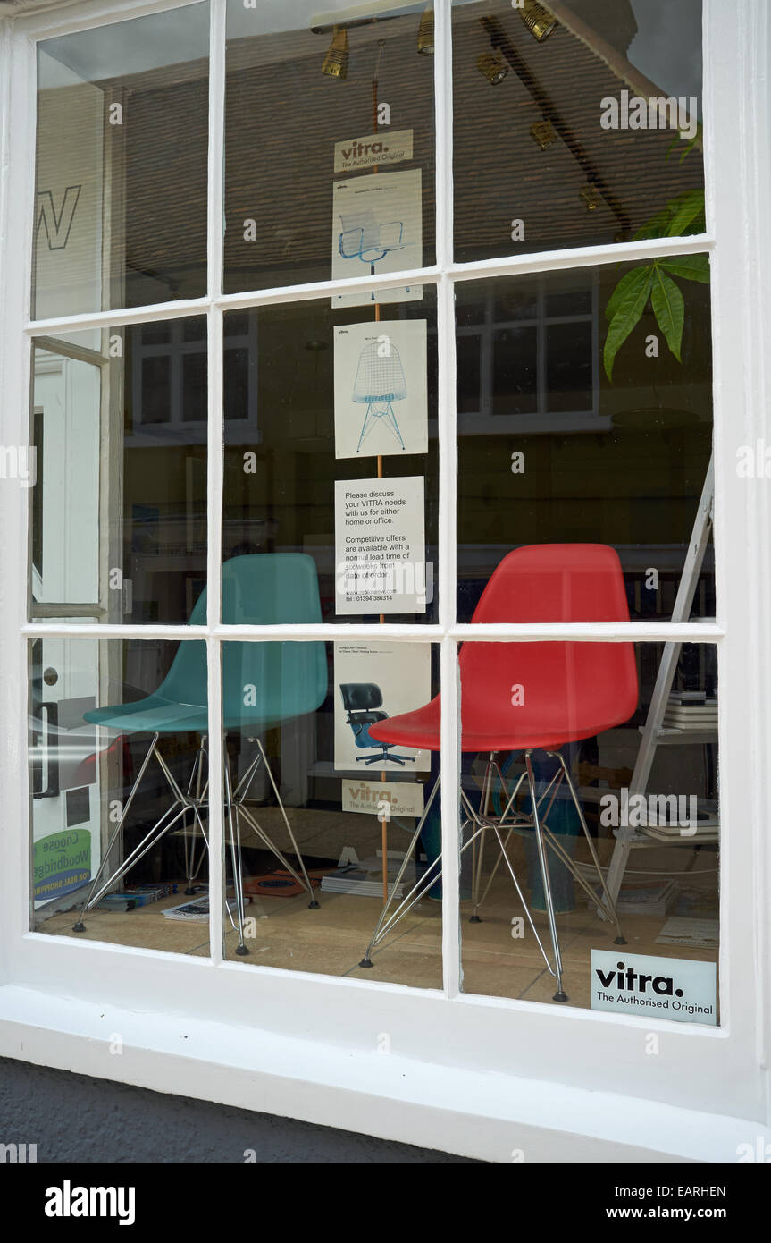 vitra chairs on sale in woodbridge suffolk uk stock photo 75506669