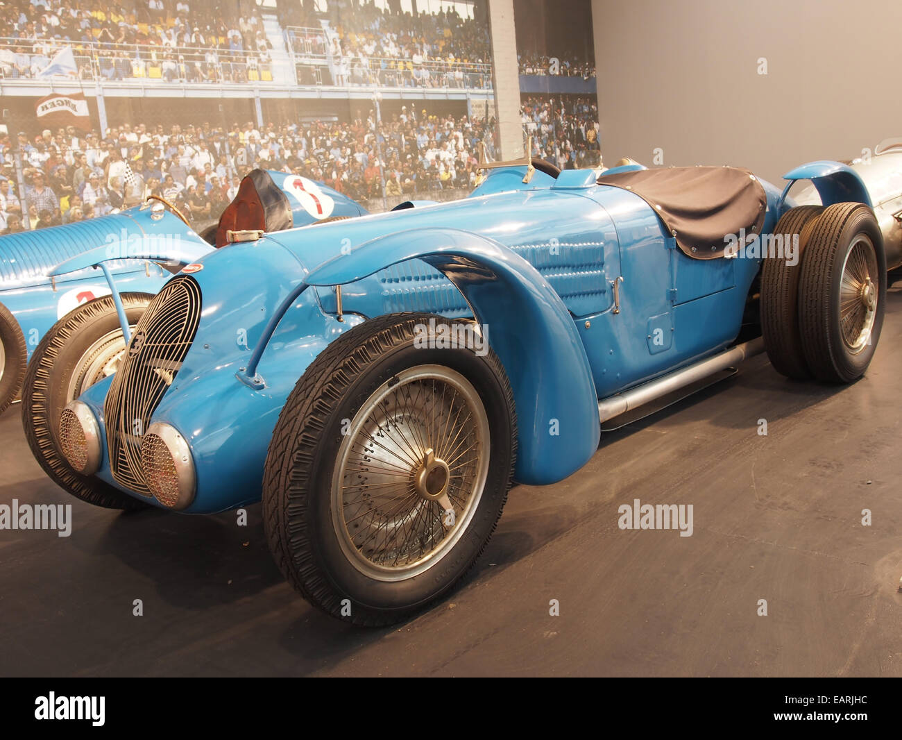 1938 Bugatti GP Type 59-50B, 8 cylinders, 4741cm3, 400hp, 300kmh, photo 2 - Stock Image