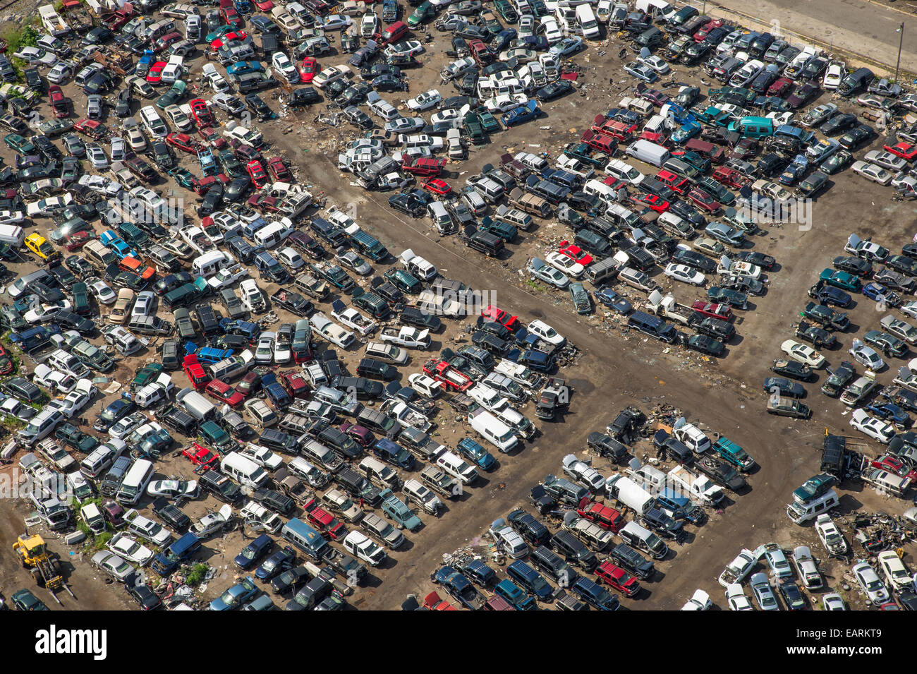 Auto Junkyard Aerial View Stock Photo 75508505 Alamy