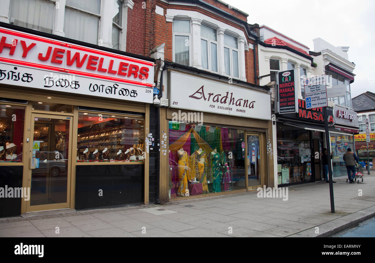 Tooting Upper Rd Shops in London SW17 - UK - Stock Image