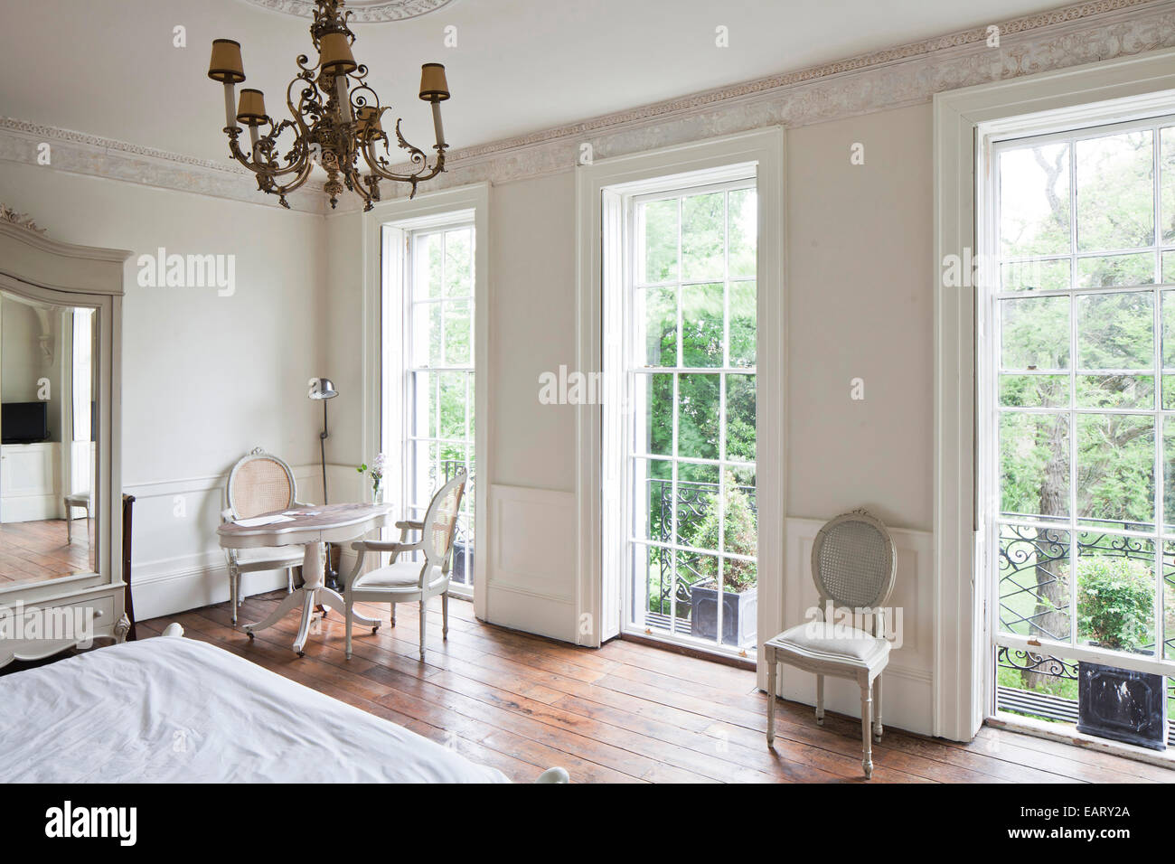 full length windows conservatory white bedroom with full length windows in the reading rooms margate england uk margate