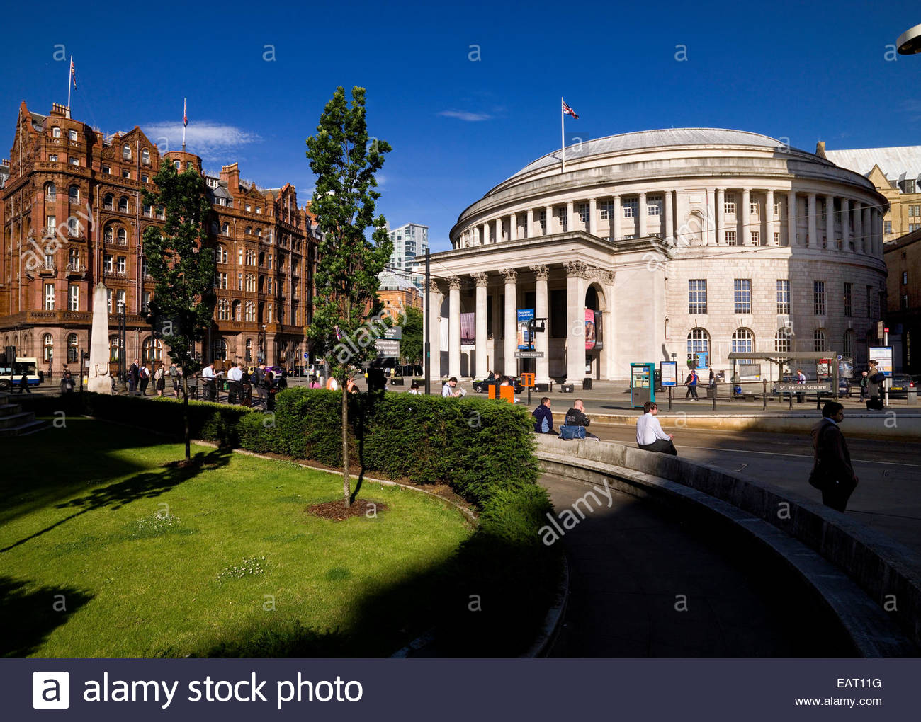 The Central Library in Manchester's St. Peter's Square, England. - Stock Image