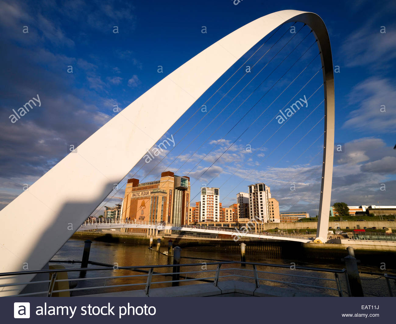 Gateshead Millennium Bridge, Newcastle Upon Tyne in England. - Stock Image
