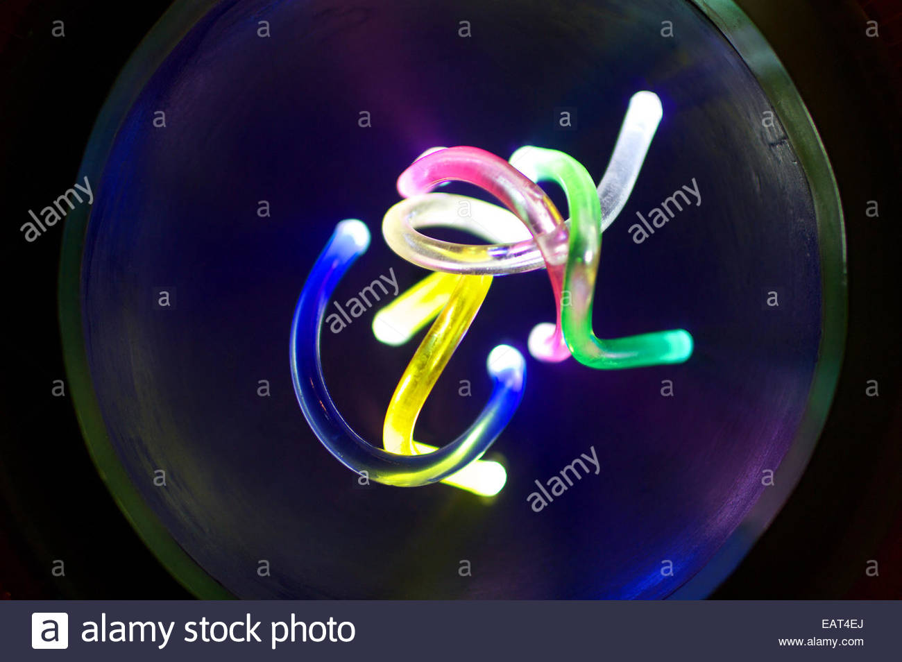 A model of the RNA virus, in the Hong Kong Museum of Medical Sciences. - Stock Image