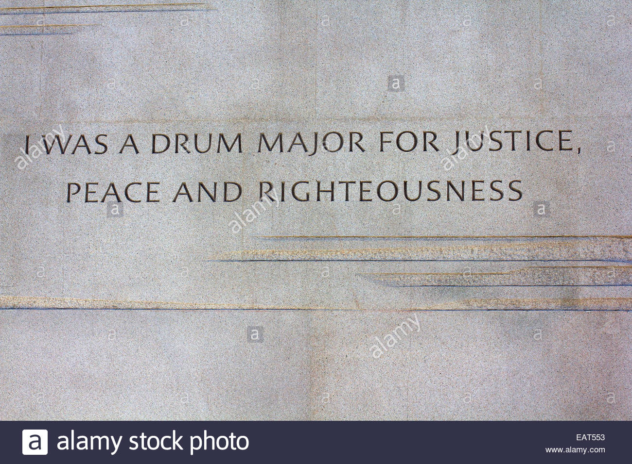 Controversial paraphrased quote on the Martin Luther King Jr. Memorial. - Stock Image