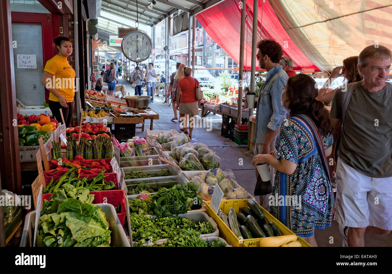 The Italian Market - 9th Street, Philadelphia, PA - Stock Image