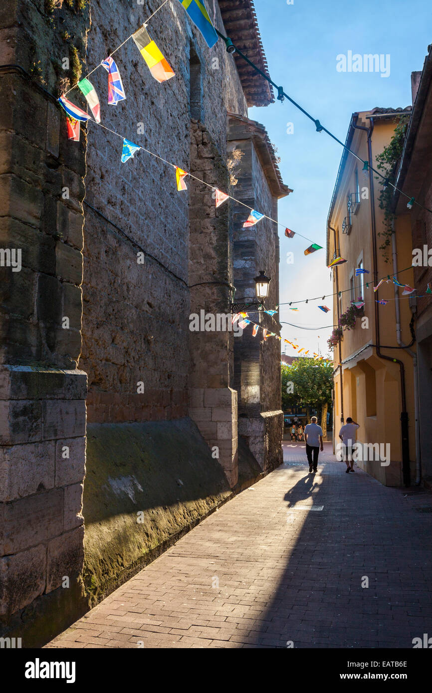Belorado village in the Way of St. James, Burgos, Spain - Stock Image