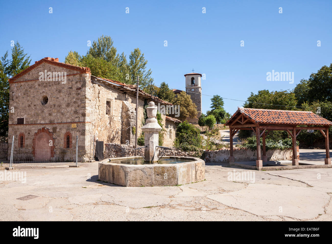 Hermitage of San Roque in Villambistia village in the Way of St. James, Burgos, Spain - Stock Image