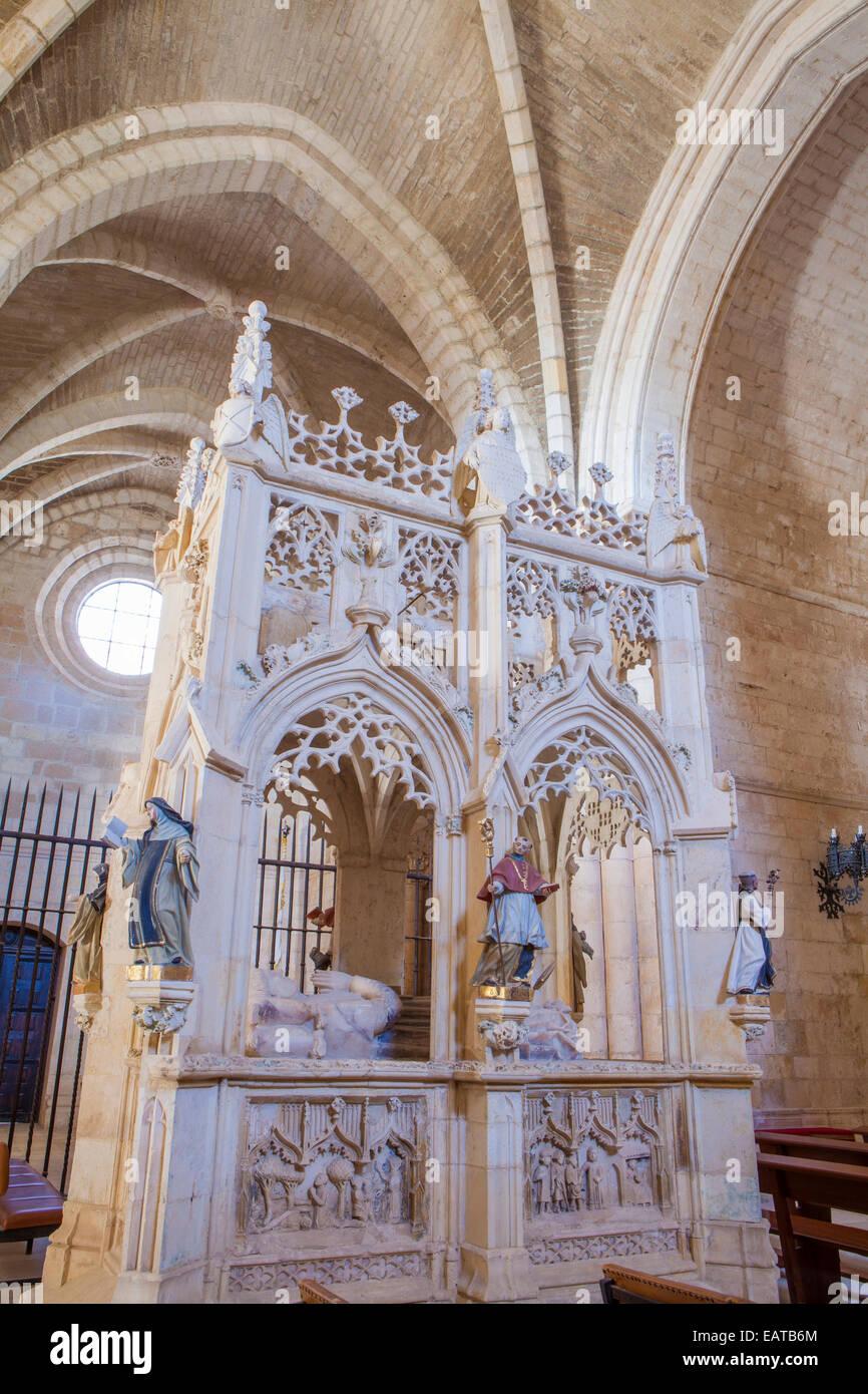 Monastery of San Juan de Ortega in the Way of St. James, Burgos, Spain - Stock Image
