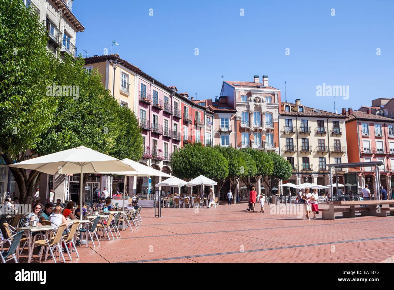 Plaza Mayor in Burgos city, Way of St. James, Burgos, Spain - Stock Image