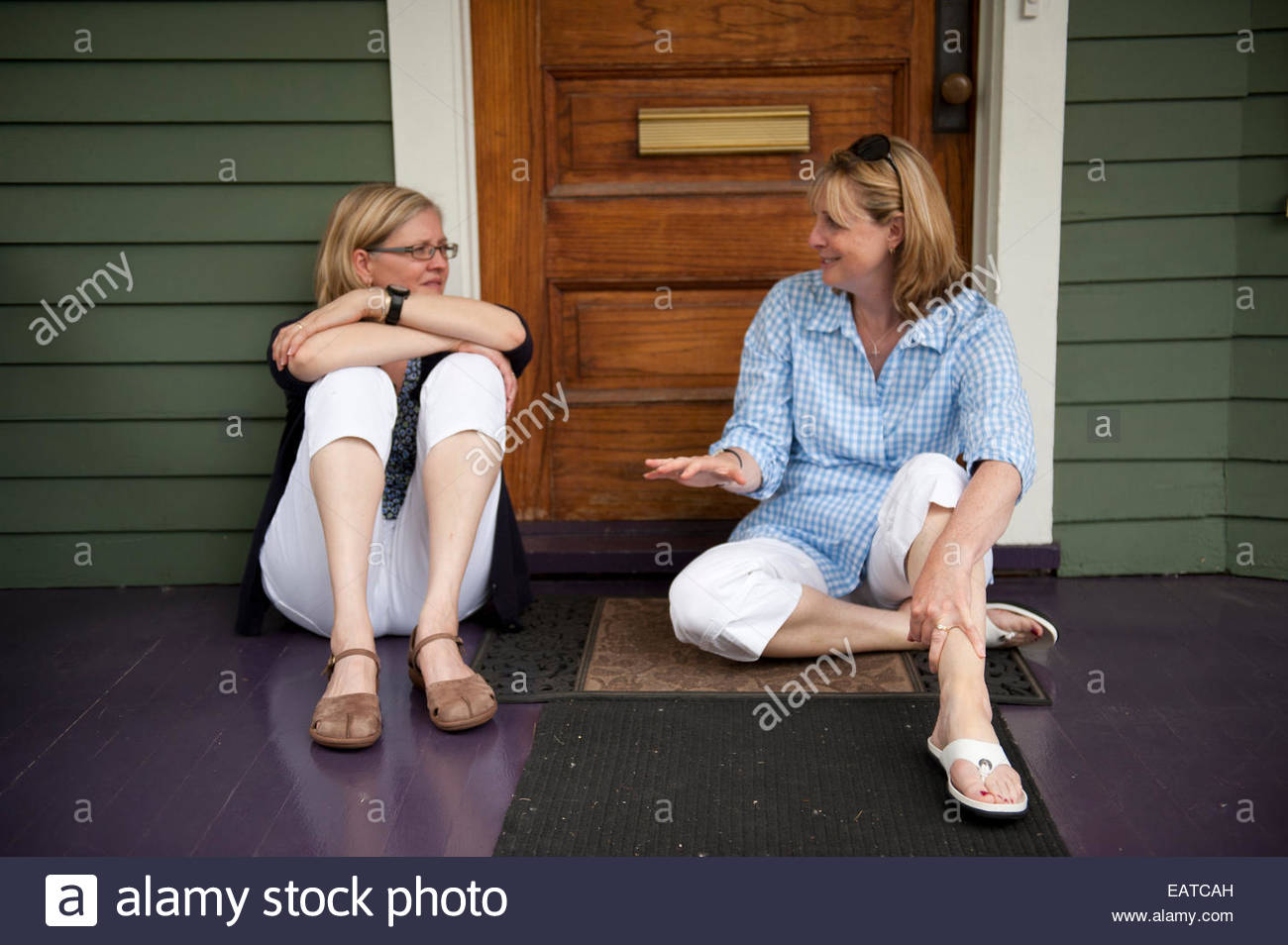 Two women spend time together. - Stock Image
