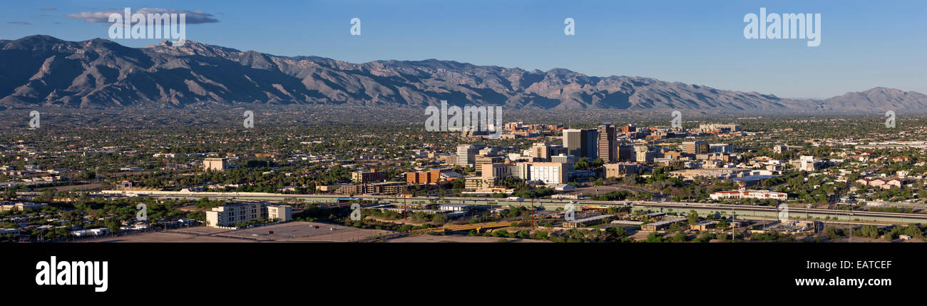 Tucson, Arizona and the Catalina Mountains - Stock Image