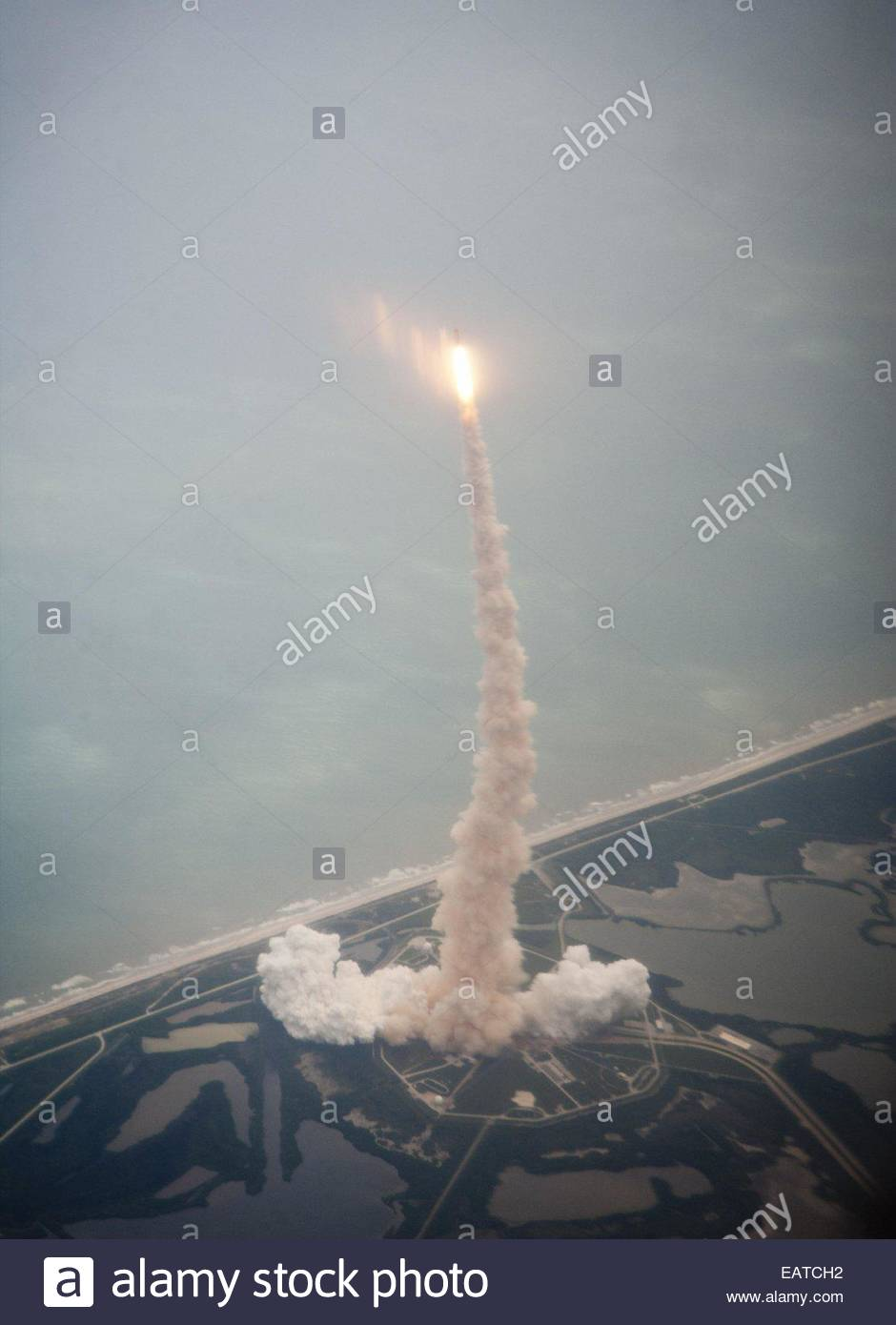 ATLANTIS mission to resupply the International Space Station is the last flight of the space shuttle program. - Stock Image