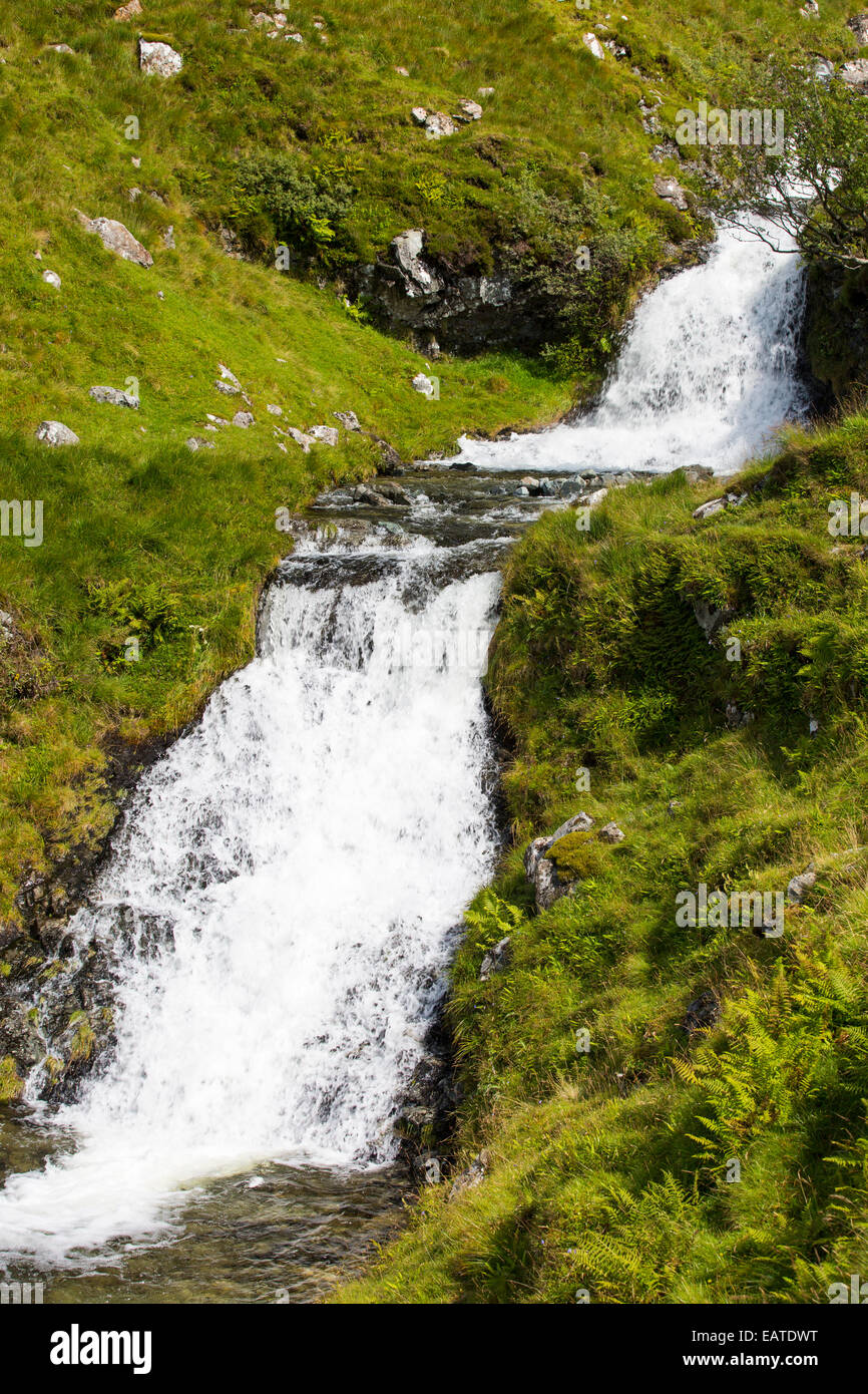 A waterfall on Ben More, Isle of Mull, Scotland, UK. - Stock Image