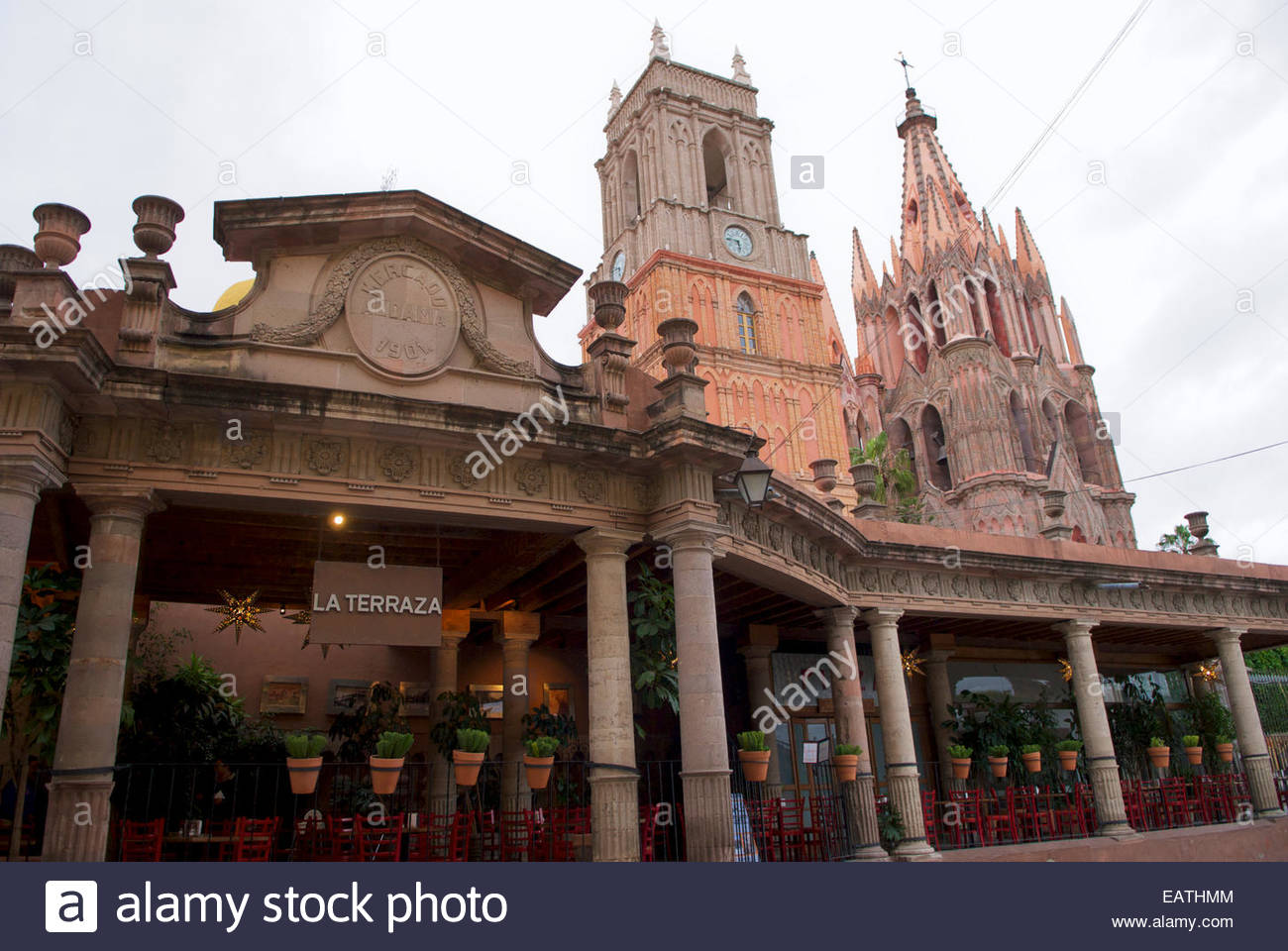 Restaurant In Front Of La Parroquia Church In San Miguel De