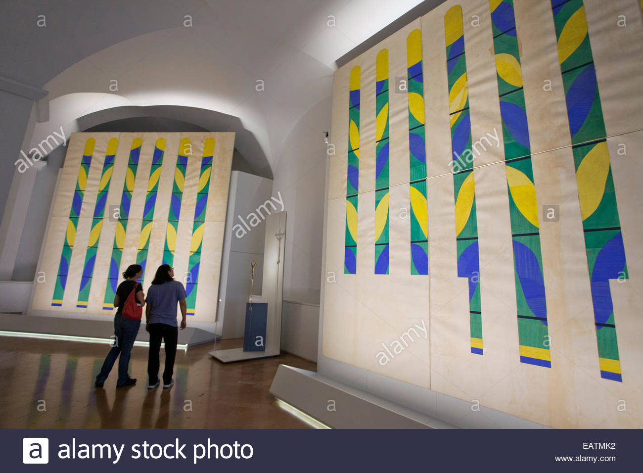 Matisse cut-outs in the Vatican Museums. - Stock Image