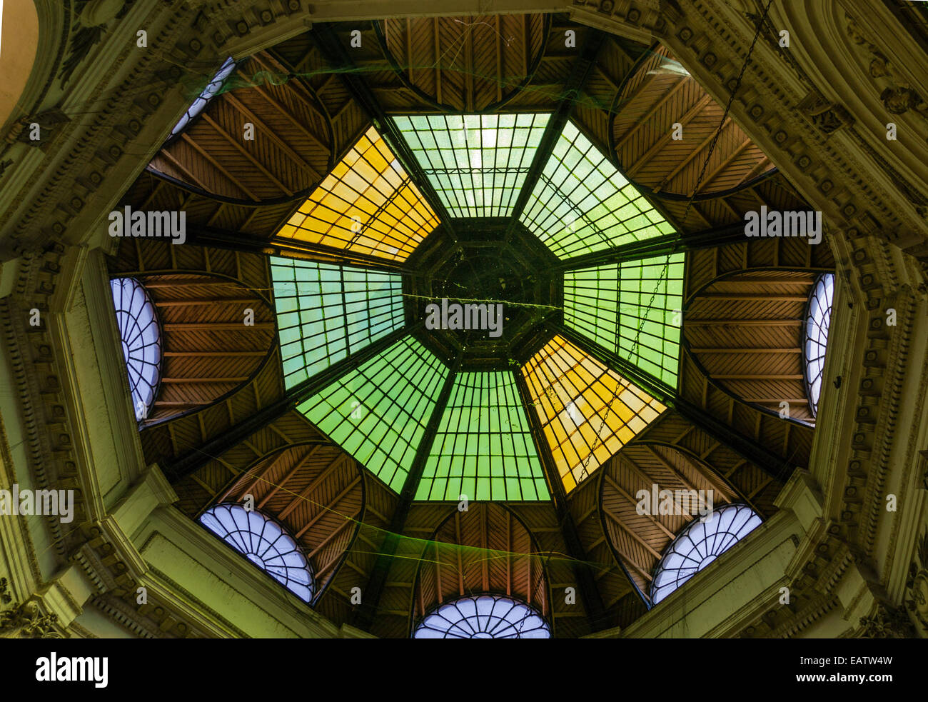 Gallery in Bucharest - Romania - Stock Image