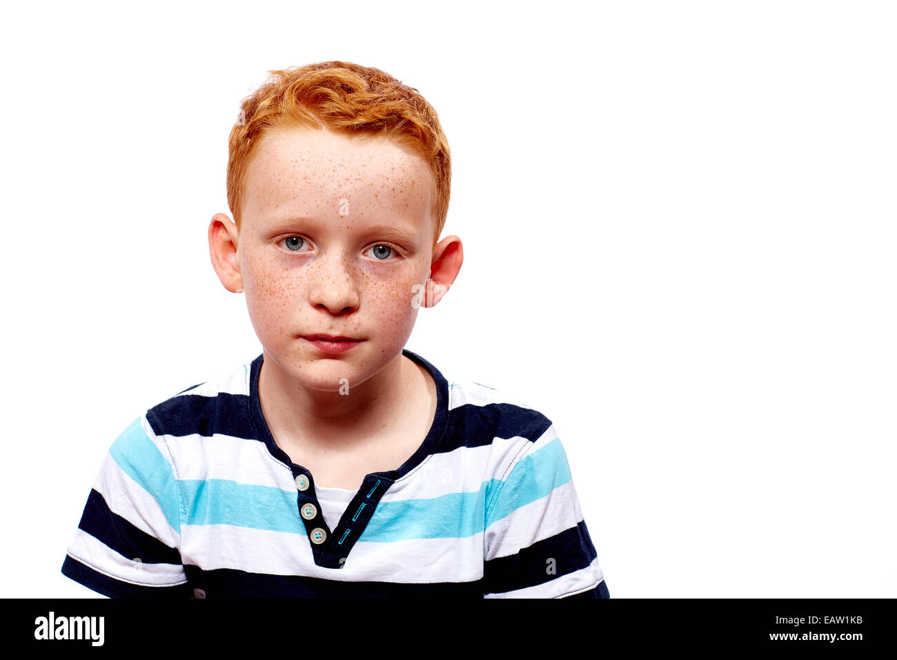 boy looks dissatisfied - Stock Image