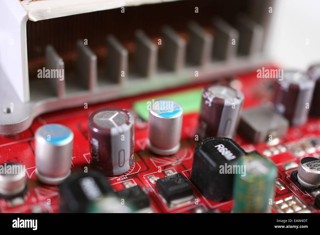 Graphic Video Card with electrical components - Stock Image