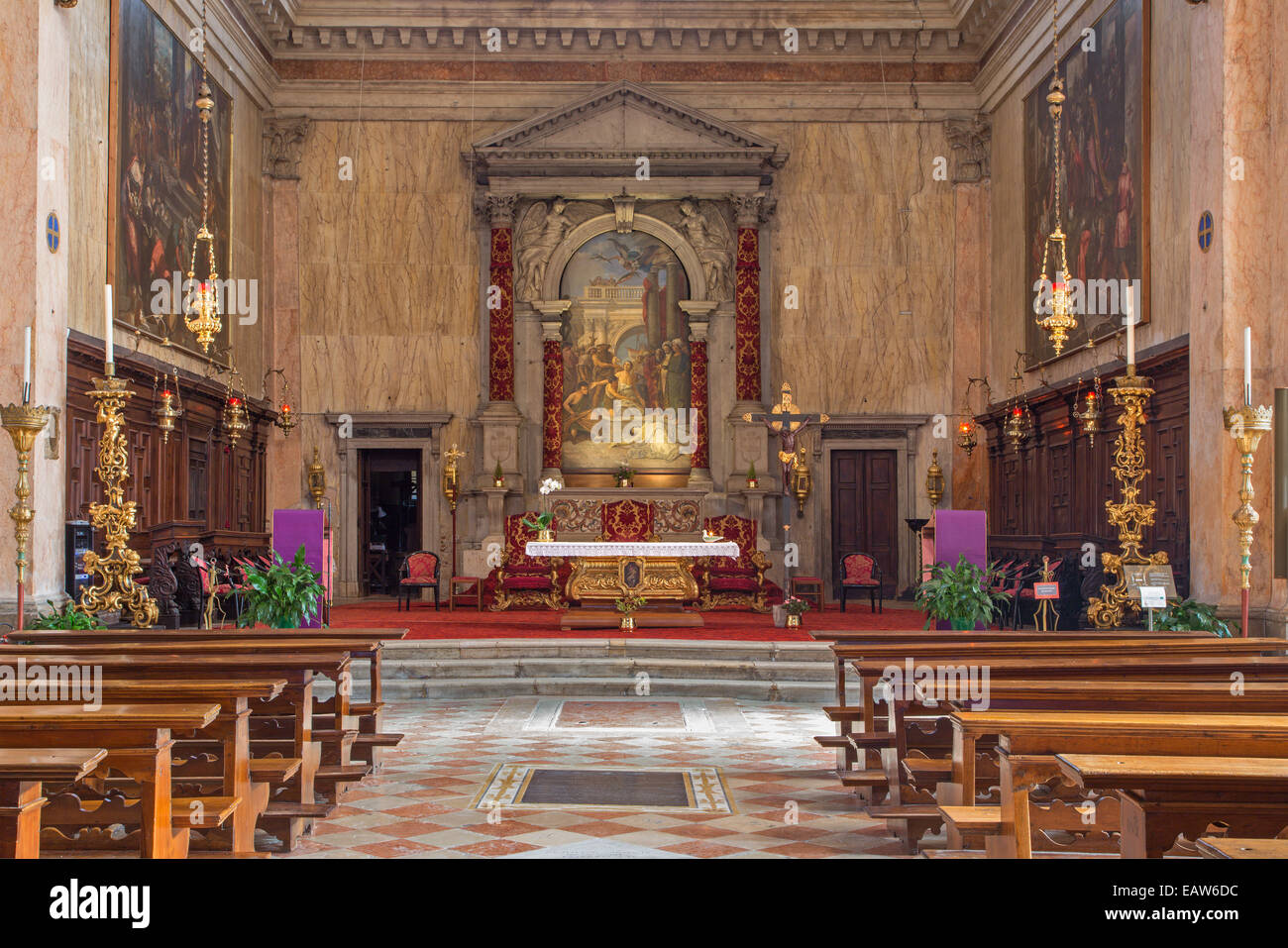 VENICE, ITALY - MARCH 13, 2014: Chiesa di San Trovaso church. - Stock Image