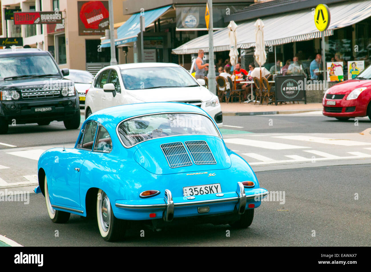 classic german porsche 911 in dee why on sydney's northern beaches,australia - Stock Image