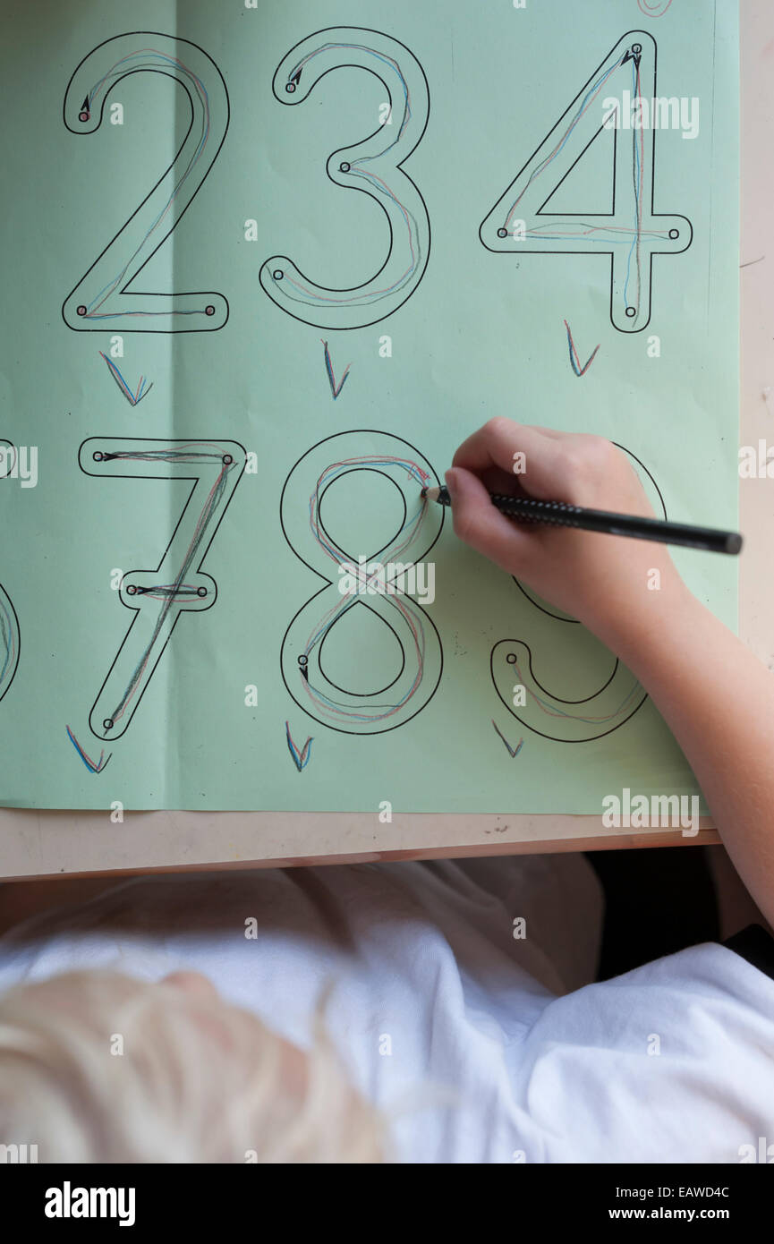 Math Worksheet Stock Photos & Math Worksheet Stock Images - Alamy