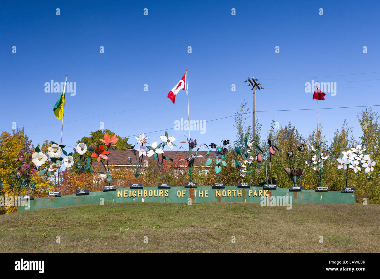 Neighbors of the North Park in Flin Flon, Manitoba, Canada. - Stock Image