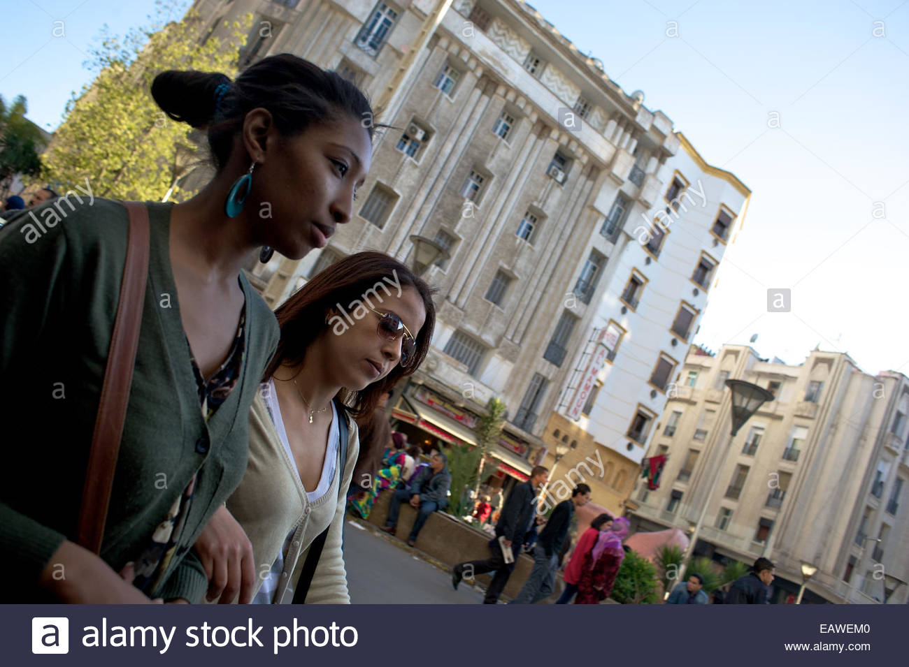 Art Deco architecture reflects French design influence on Casablanca. - Stock Image