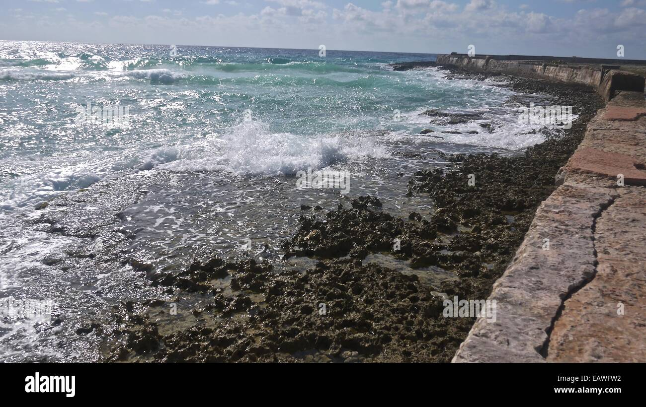 Playa Giron, location were Bay of Pigs battle took place - Stock Image
