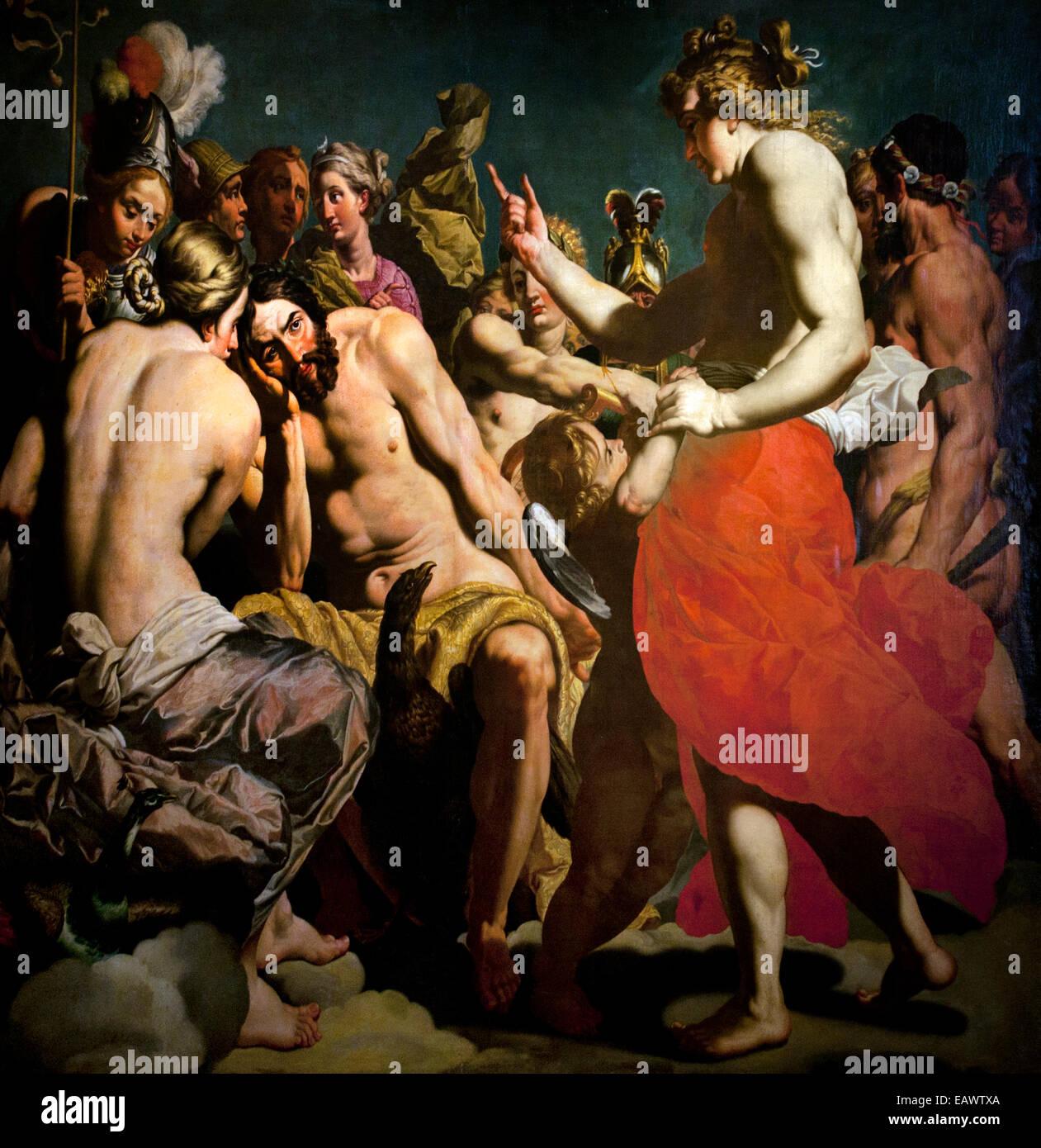 The gods of Olympe by Abraham Janssens 1575-1632 Flemish Baroque  Belgian Belgium - Stock Image