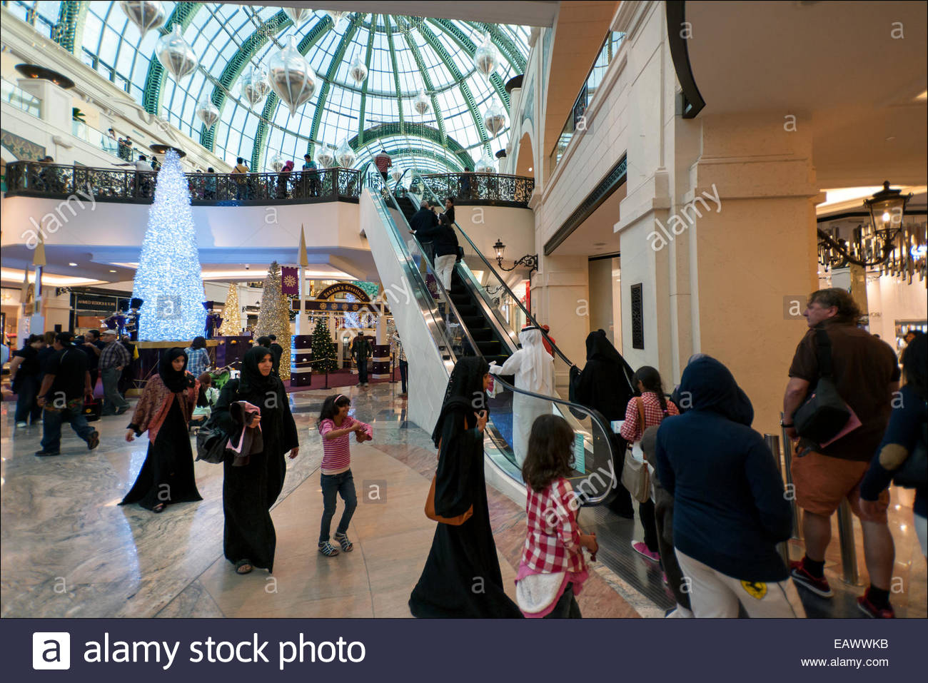 The  2.4 million square foot Mall of the Emirates, opened in 2005 in what is now deemed 'New Dubai' is one - Stock Image