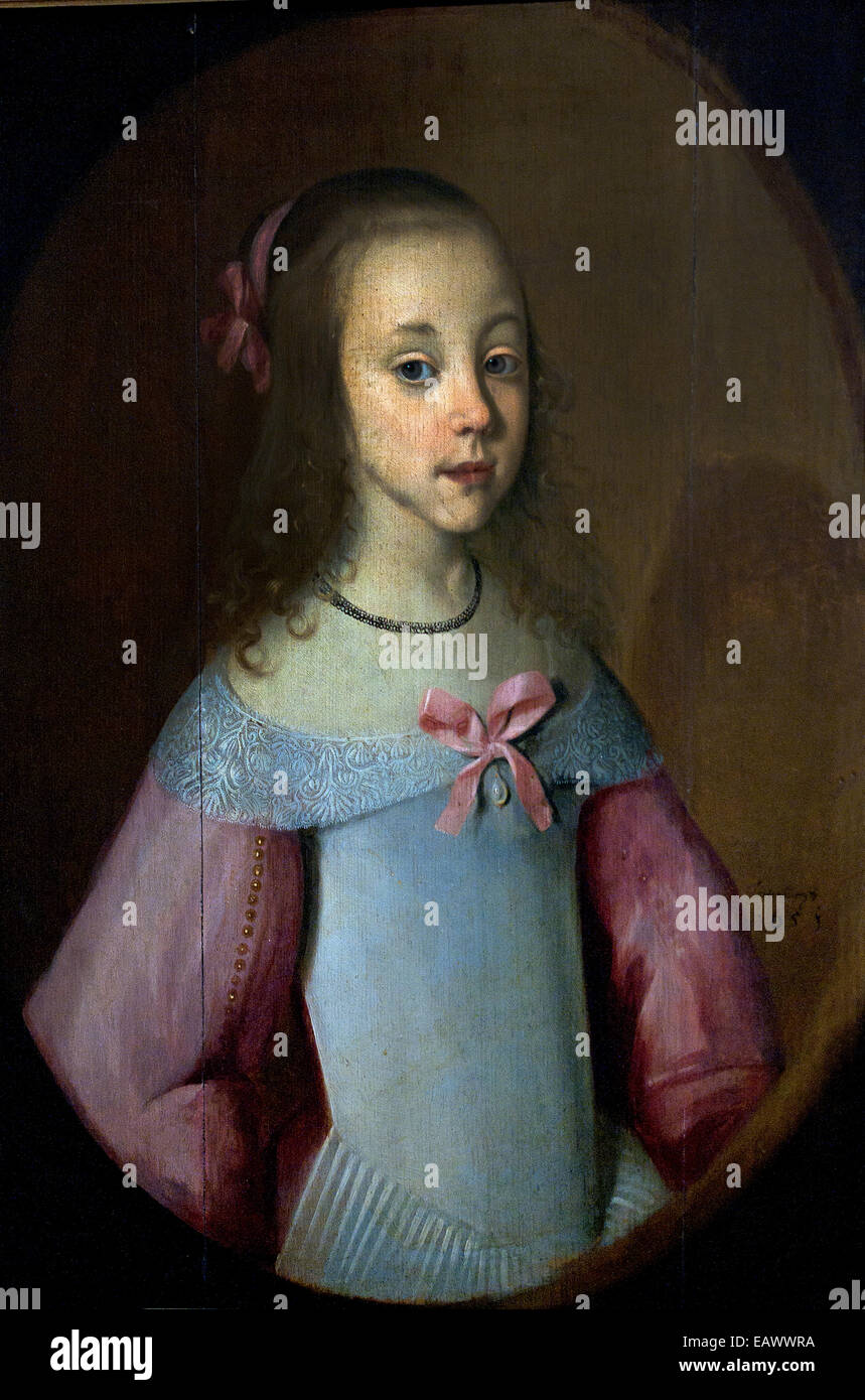 Little Girl by Hastenbourg 17th century Hungary ! - Stock Image