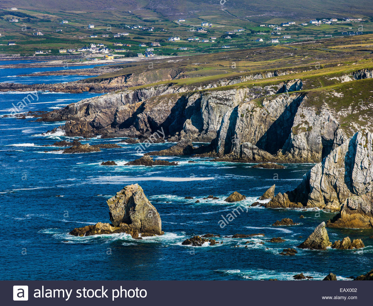 Coastline of Achill Island in County Mayo, Ireland. - Stock Image