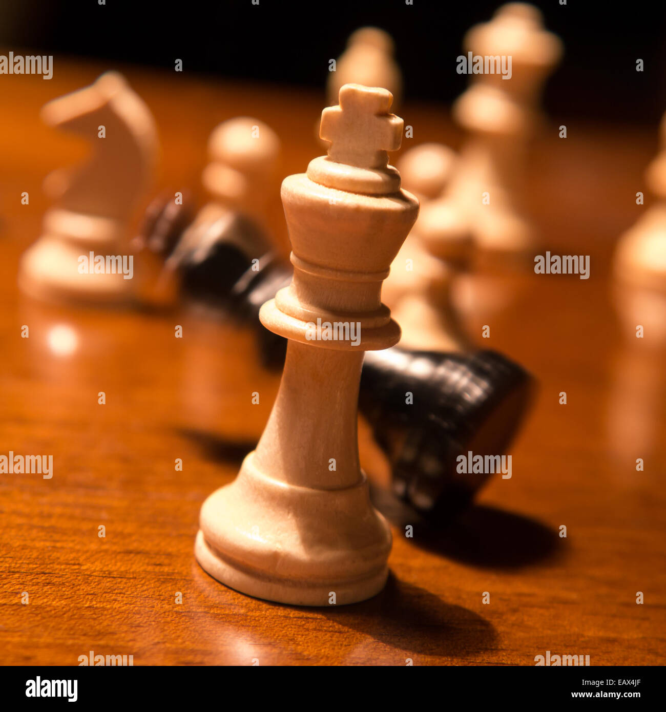 checkmate, falling chess king - Stock Image