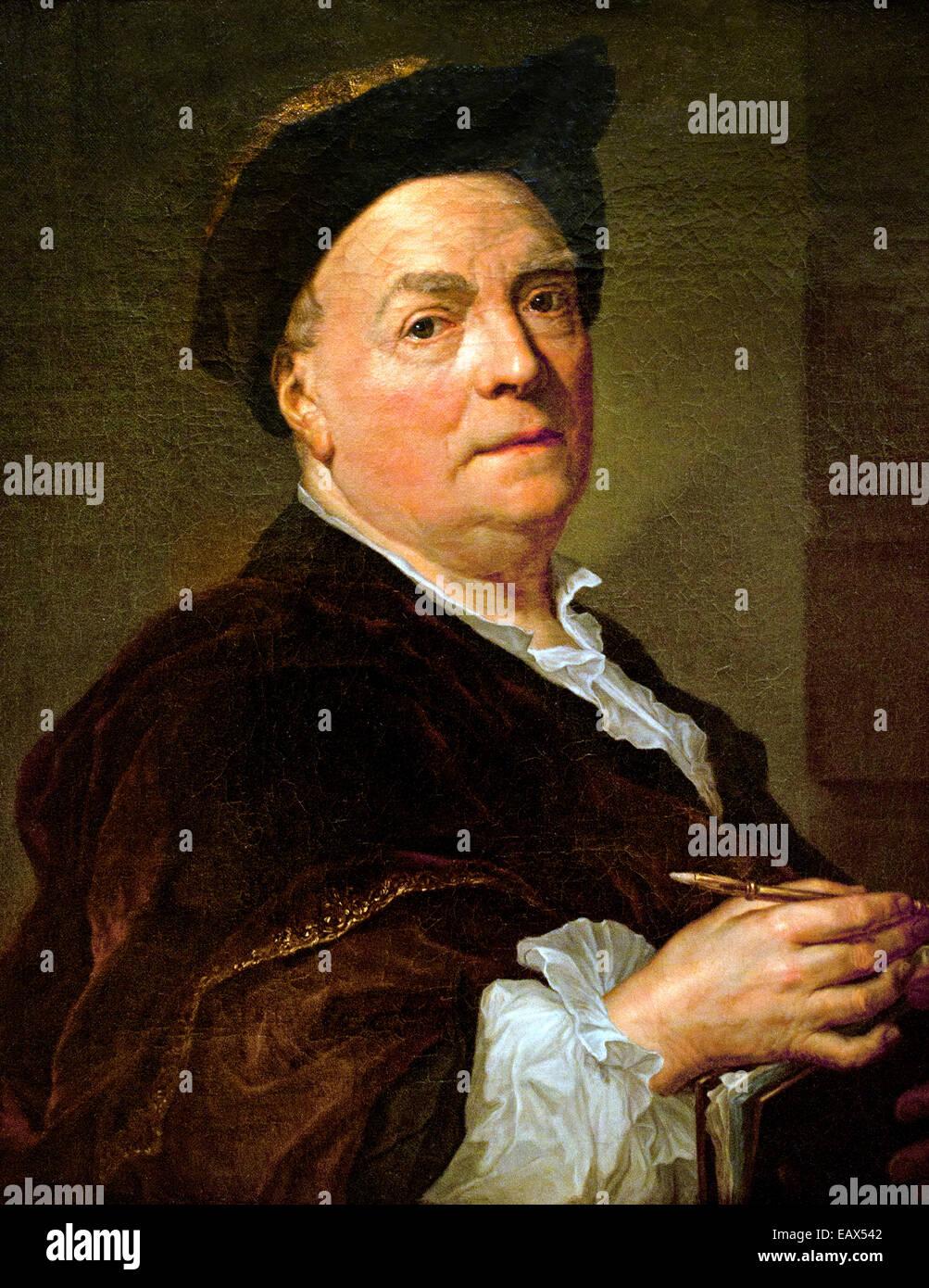 Louis de Silvestre 1745 Anton Raphael Mengs (1728 – 1779) German Bohemian painter Germany - Stock Image
